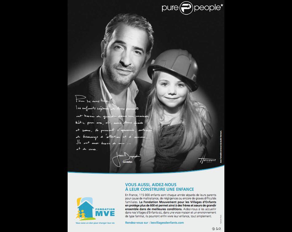 Jean dujardin pour la fondation mouvement pour les for Jean dujardin et ses enfants