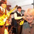 Camilla Parker Bowles en visite à Liverpool pour A Beatles Story, le 4 avril 2012.
