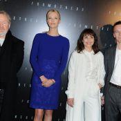 Prometheus : Charlize Theron, Michael Fassbender, Noomi Rapace à Paris