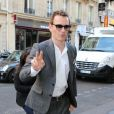 Michael Fassbender arrive à la présentation du film Prometheus à Paris le 11 avril 2012