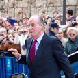 Le roi Juan Carlos d'Espagne le 8 avril 2012 à Palma de Majorque