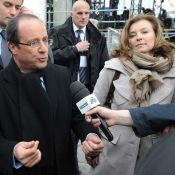 Vincennes : François Hollande conquérant devant Valérie Trierweiler et les siens