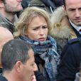 Fanny Cottençon au meeting de François Hollande au Château de Vincennes, le 15 avril 2012.