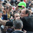 Bain de foule pour François Hollande au Château de Vincennes, le 15 avril 2012.