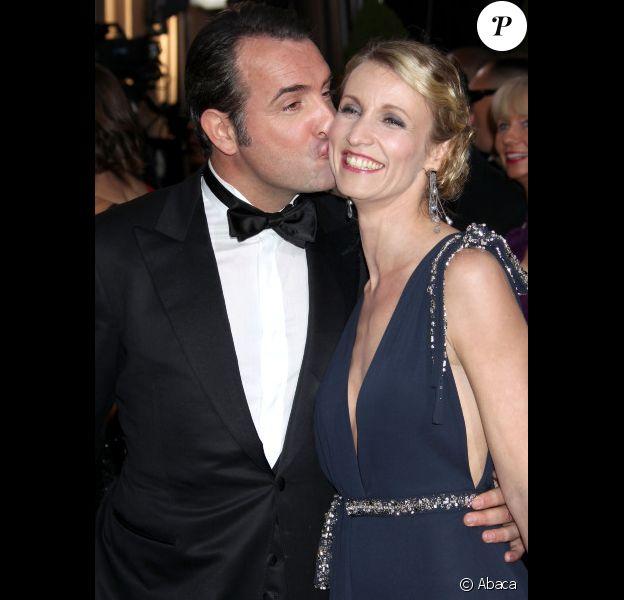 Jean Dujardin et Alexandra Lamy, en février 2012 lors des Oscars.