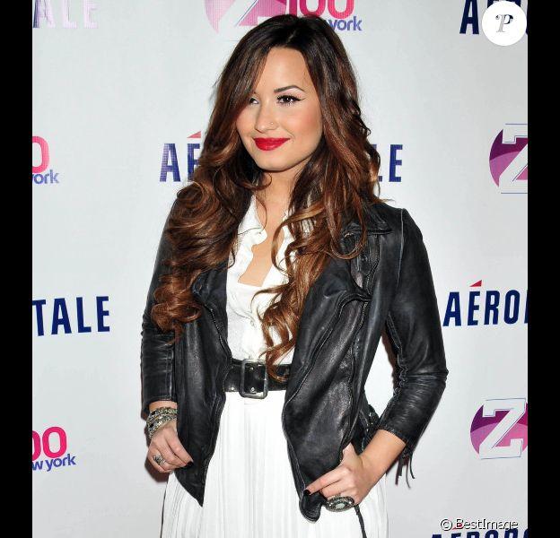 Demi Lovato à New York en octobre 2011.