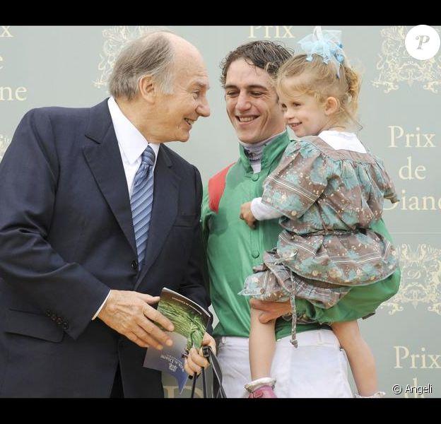 Charlie, la fille de Sophie Thalmann dans les bras de Christophe Soumillon