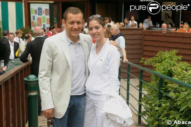 Dany Boon et sa femme Yaël lors de la finale Federer-Nadal