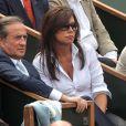 Charles Villeneuve et sa femme lors de la finale Federer-Nadal
