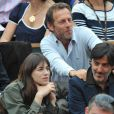 Stéphane Freiss, sa femme, Charlotte Gainsbourg et son mari Yvan Attal lors de la finale Federer-Nadal