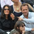 Stéphane Freiss et sa femme lors de la finale Federer-Nadal