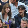 Charlotte Gainsbourg et Yvan Attal lors de la finale Federer-Nadal