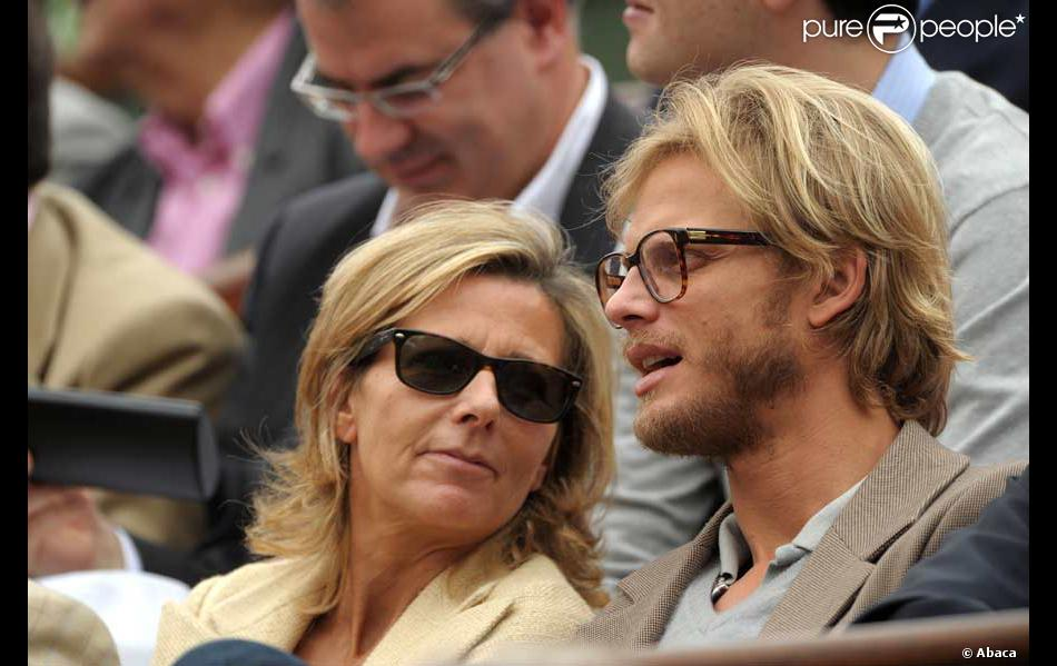 claire chazal et arnaud lemaire lors de la finale federer nadal. Black Bedroom Furniture Sets. Home Design Ideas
