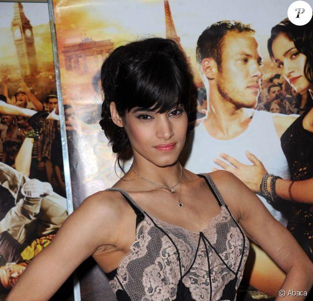 Sofia Boutella présente Street Dance 2 (3D) au cinéma UGC des Halles, à Paris. 4 mai 2012