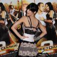 Sofia Boutella fait la promotion de Street Dance 2 (3D) au cinéma UGC des Halles, à Paris. 4 mai 2012