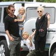 Gwen Stefani, son mari Gavin Rossdale, et leurs enfants Kingston et Zuma se rendent à une House Party à Los Angeles le 12 mai 2012