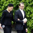 La princesse Victoria de Suède est apparue effondrée le 14 mai 2012 au sortir de la messe de funérailles pour son grand-oncle Carl Johan Bernadotte, décédé le 5 mai.
