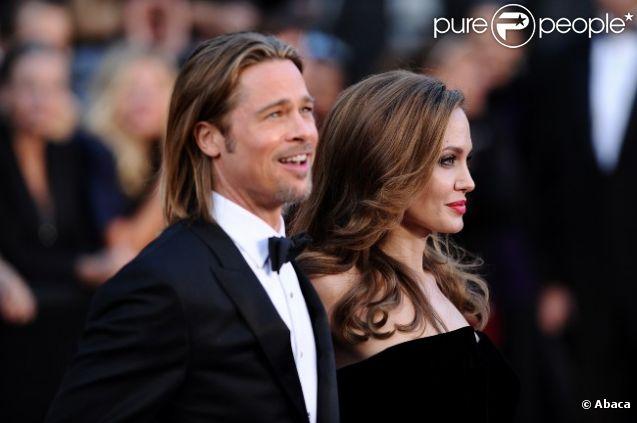 Angelina Jolie et Brad Pitt le 26 février 2012 à Los Angeles
