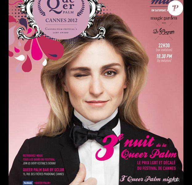 Julie Gayet est président du jury Queer Palm du Festival de Cannes 2012.