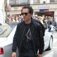 Gad Elmaleh, très élégant, se rend à un événement promo autour de son film Un bonheur n'arrive jamais seul, le samedi 19 mai 2012, à Cannes, durant le 65e Festival international du film.