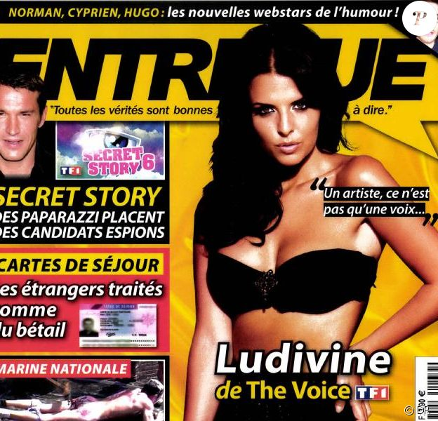 Ludivine de The Voice en couverture d'Entrevue