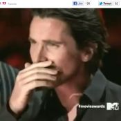 MTV Movie Awards 2012 : Christian Bale craque en revoyant Heath Ledger