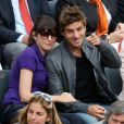 Nolwenn Lery et Arnaud Clément le 9 mai 2012 à Roland-Garros lors de la finale féminine entre Sharapova et Errani.