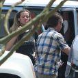 Petra Nemcova et Sean Penn quittent leur hôtel, le jeudi 31 mai à Cabo San Luca au Mexique.