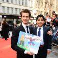 Andrew Garfield lors de l'avant-première du film The Amazing Spider-man à Londres le 18 juin 2012
