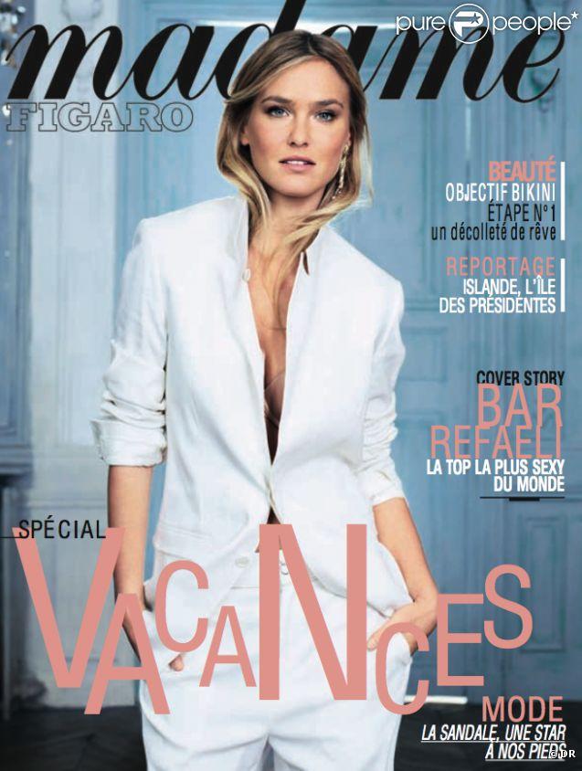 Une de Madame Figaro, en kiosques le vendredi 22 juin 2012, avec Bar Refaeli