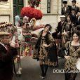 Monica Bellucci, Bianca Balti et Bianca Brandolini d'Adda s'illustrent, radieuses et enjouées dans la campagne Automne/Hiver 2012 Dolce & Gabbana