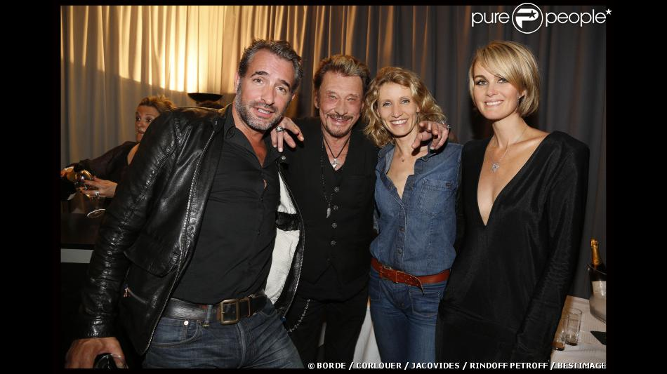 Exclu jean dujardin et alexandra lamy johnny et for Dujardin johnny