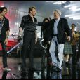 Photos exclusives, reproduction interdite : Johnny Hallyday a fêté ses 69 ans au Stade de France le 15 juin et donné 3 concerts les 15,16 et 17 Juin. Alain Delon est monté sur scène pour fêter les 69 ans du Taulier.
