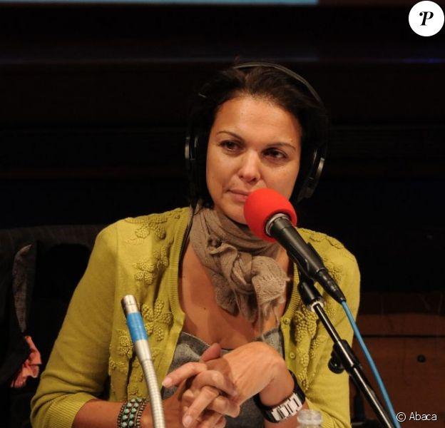 Isabelle Giordano dans les studios de France Inter, le 28 janvier 2011.
