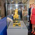"""La princesse Maxima et le prince Willem-Alexander des Pays-Bas inauguraient le 28 juin 2012 au palais royal d'Amsterdam l'exposition """"Le roi Louis Napoléon et son palais sur le Dam"""", une plongée dans l'histoire du pays et sa transformation en monarchie."""