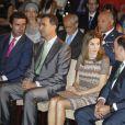 Le prince Felipe et la princesse Letizia présidaient le 3 juillet 2012 à Madrid la remise des bourses et subventions de la Fondation Iberdrola pour l'innovation environnementale.