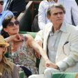 Lio et son nouveau compagnon, complices, à Roland-Garros le 31 mai 2012
