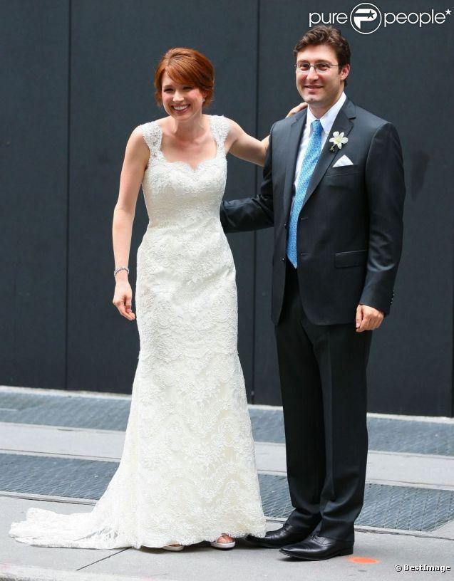 Ellie Kemper et son compagnon Michael Koman se sont dit oui à New York, le 7 juillet 2012.