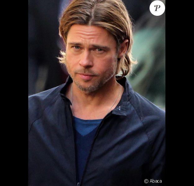 Bradd Pitt sur le tournage de World War Z de Marc Forster, pendant l'été 2011.
