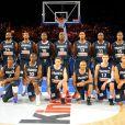 L'équipe de France de Basket le 15 juillet 2012 lors du match face à  l'Espagne au Palais Omnisport de Paris-Bercy (défaite 70-75 des Bleus)