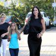 """"""" Courteney Cox et sa fille Coco : sortie au restaurant Cafe Habana à Los Angeles le 6 juillet 2012. """""""