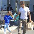 David Arquette et sa fille Coco dans le quartier de Beverly Hills, à Los Angeles, le 16 juillet 2012.