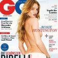 Rosie Huntington-Whiteley en couverture du GQ allemand d'août 2012.