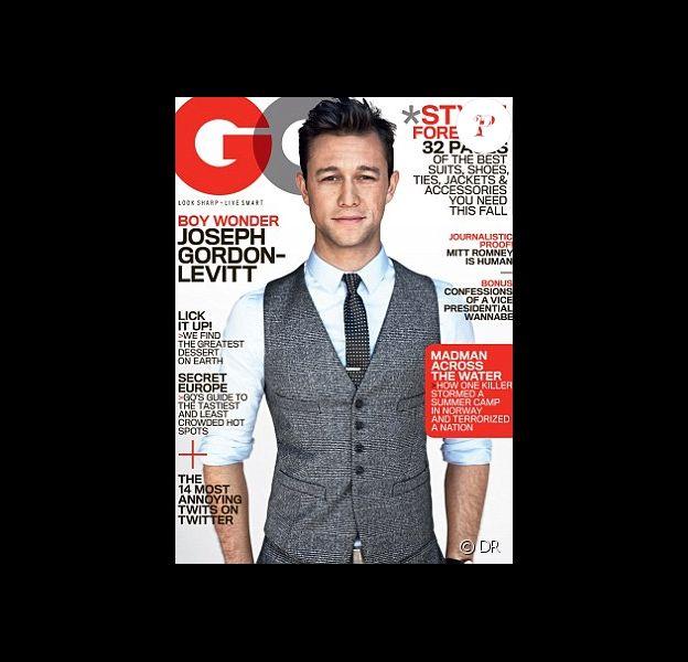 Joseph Gordon-Levitt en couverture de l'édition américaine de GQ - août 2012