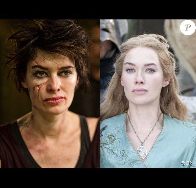 Lena Headey le caméléon. Brune et défigurée pour le film de science-fiction Dredd ; blonde et impériale dans la série Game of Thrones.