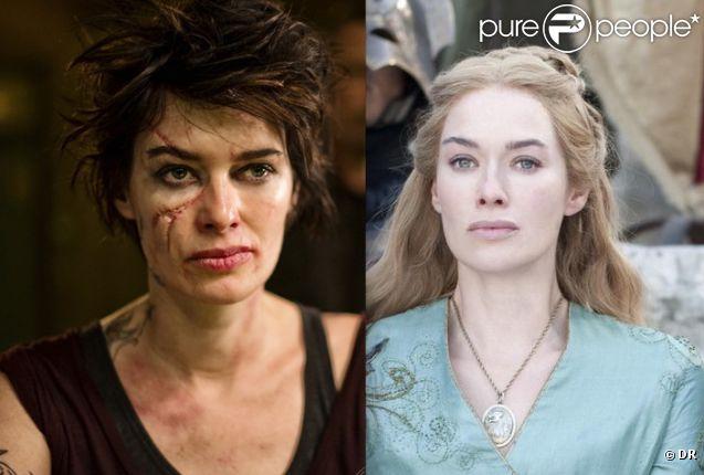 Lena Headey le caméléon. Brune et défigurée pour le film de science-fiction  Dredd  ; blonde et impériale dans la série  Game of Thrones .