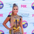 Demi Lovato pose lors de la cérémonie des Teen Choice Awards, à Los Angeles, le dimanche 22 juillet 2012.