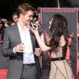 Robert Pattinson, Kristen Stewart et Taylor Lautner laissent leurs empreintes à Los Angeles le 3 novembre 2011