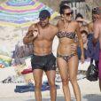 Xavi Hernandez et sa compagne sur l'île de Formentera le 29 juillet 2012
