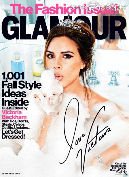 Victoria Beckham en couv du Glamour américain pour le mois de septembre